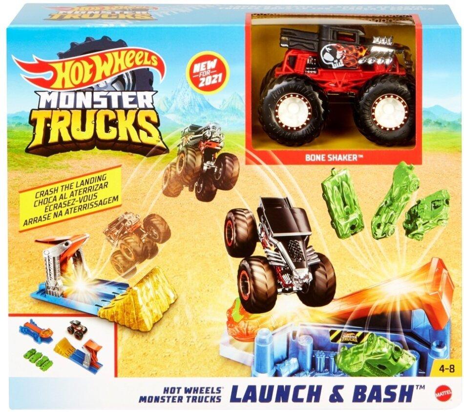 Hot Wheels Monster Trucks Startrampen-Crash