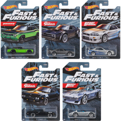 Hot Wheels Fast & Furious - 5-way assorted / 1 piece