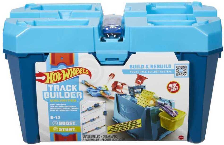 Hot Wheels Track Builder Unlimited Mega Crash Stunt Box