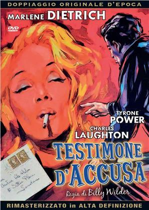 Testimone d'accusa (1957) (Doppiaggio Originale D'epoca, HD-Remastered, n/b, Riedizione)