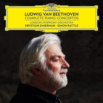 Ludwig van Beethoven (1770-1827), Sir Simon Rattle, Krystian Zimerman & London Symphony Orchestra - Complete Piano Concertos (3 CDs)