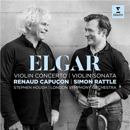 Sir Edward Elgar (1857-1934), Sir Simon Rattle, Renaud Capuçon, Stephen Hough & London Symphony Orchestra - Violinkonzert / Violinsonate