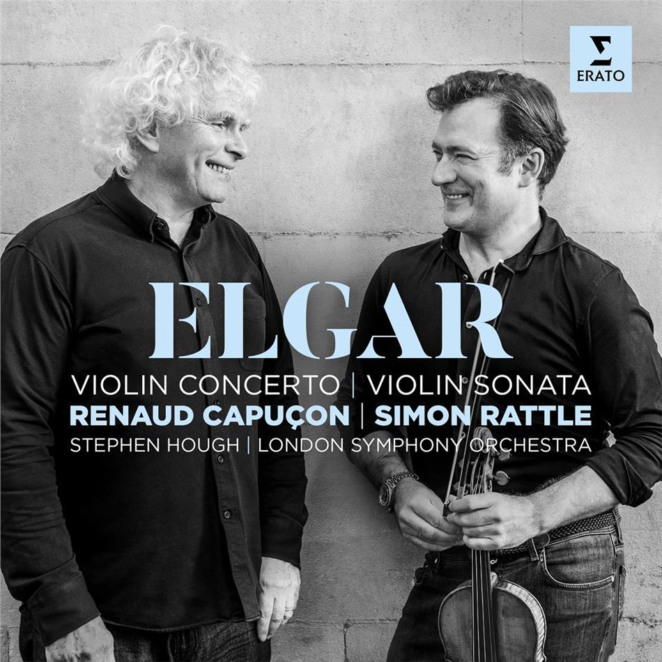 Sir Edward Elgar (1857-1934), Sir Simon Rattle, Renaud Capuçon, Stephen Hough & London Symphony Orchestra - Violinkonzert / Violinsonate