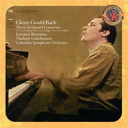Johann Sebastian Bach (1685-1750), Leonard Bernstein (1918-1990), Vladimir Golschmann, Glenn Gould (1932-1982) & Columbia Symhpony Orchestra - Three Keyboard Concertos (Bonustracks, Remastered)