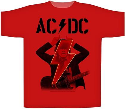AC/DC - Angus Pwr Up (Red Tee) T-Shirt