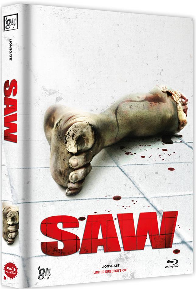 Saw (2004) (Cover F, Director's Cut, Limited Edition, Mediabook, Uncut)
