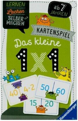 Ravensburger 80350 - Lernen Lachen Selbermachen: Das kleine 1x1 - Kartenspiel ab 7 Jahren - Ein mal Eins Trainieren für 1-4 Spieler, Lernspiel mit verschiedenen Spielevarianten und Schwierigkeitsstufen