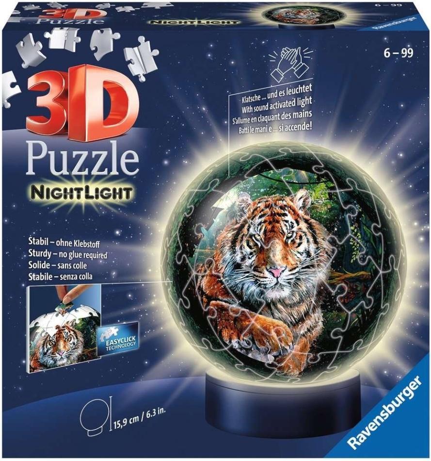 Nachtlicht: Raubkatzen - 72 Teile 3D Puzzle