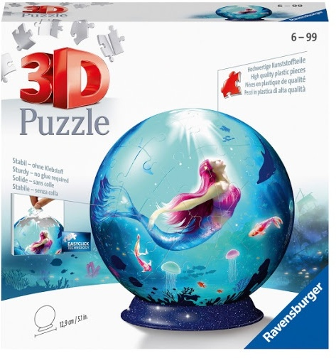 Bezaubernde Meerjungfrauen - 72 Teile 3D Puzzle Ball
