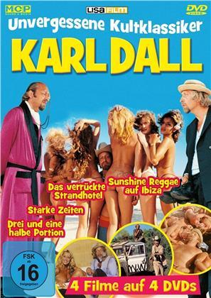 Karl Dall - Unvergessene Kultklassiker - Drei und eine halbe Portion / Starke Zeiten / Das verrückte Strandhotel / Sunshine Reggae auf Ibiza (4 DVDs)
