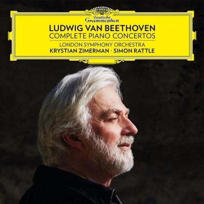 London Symphony Orchestra, Ludwig van Beethoven (1770-1827), Sir Simon Rattle & Krystian Zimerman - Complete Piano Concertos (5 LPs)