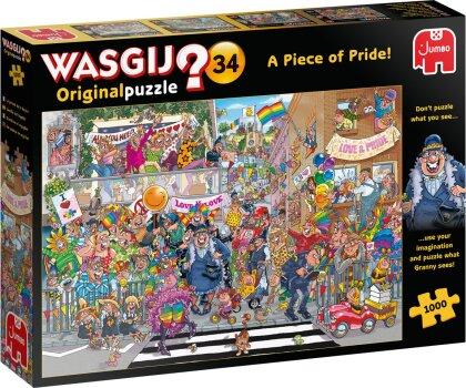Puzzle Wasgij Original 34 - Ein Stückchen Pride, 1000