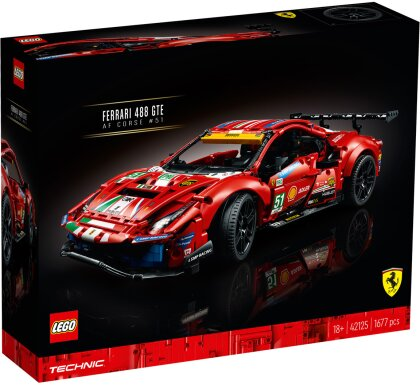 Ferrari 488 GTE AF Corse - #51, Lego Technic,