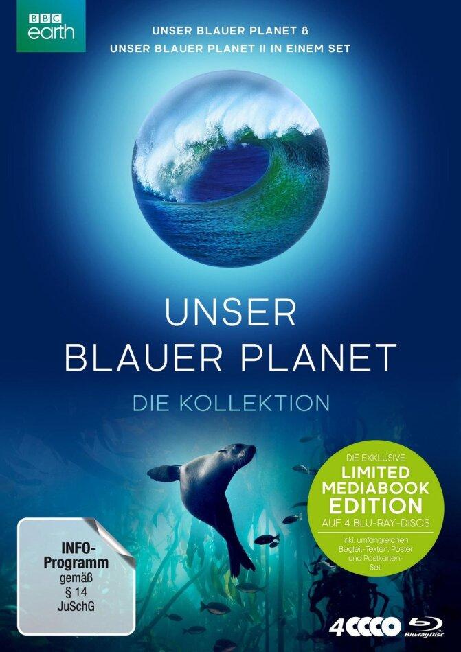 Unser blauer Planet - Die Kollektion (Limited Edition, Mediabook, 4 Blu-rays)