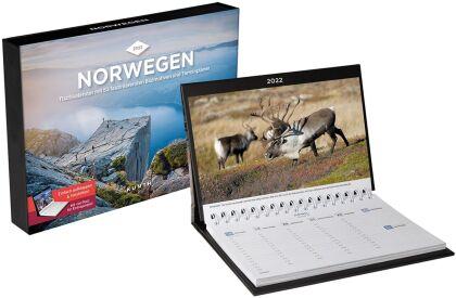 Norwegen Tischkalender 2022