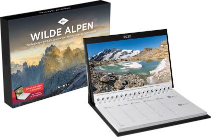 Wilde Alpen Tischkalender 2022