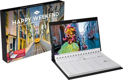 Happy Weekend Tischkalender 2022