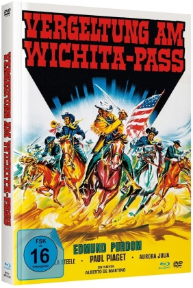 Vergeltung Am Wichita-Pass (1965) (Cover B, Limited Edition, Mediabook, Blu-ray + DVD)