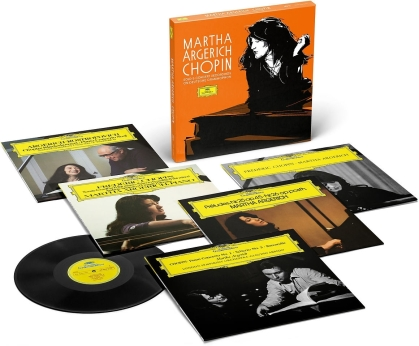 Frédéric Chopin (1810-1849), Claudio Abbado, Martha Argerich & London Symphony Orchestra - Sämtliche Chopin Solo- und Konzertaufnahmen (Limited, 5 LPs)