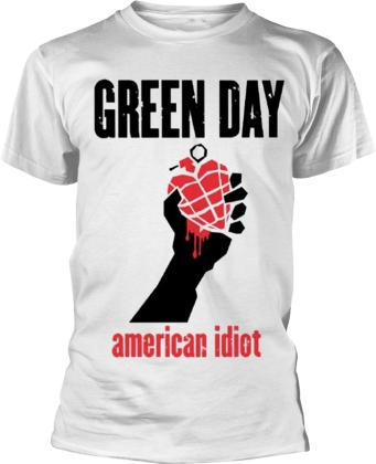 Green Day - American Idiot Heart (White)