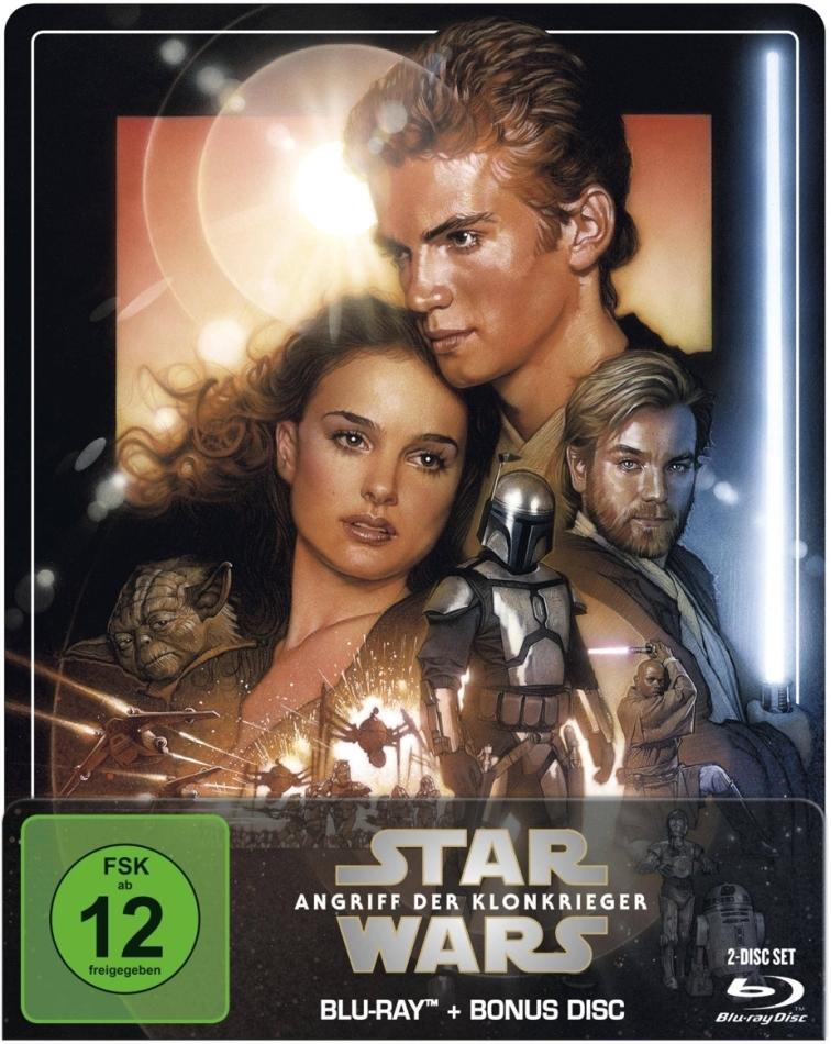 Star Wars - Episode 2 - Angriff der Klonkrieger (2002) (Limited Edition, Steelbook, 2 Blu-rays)