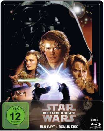 Star Wars - Episode 3 - Die Rache der Sith (2005) (Limited Edition, Steelbook, 2 Blu-rays)