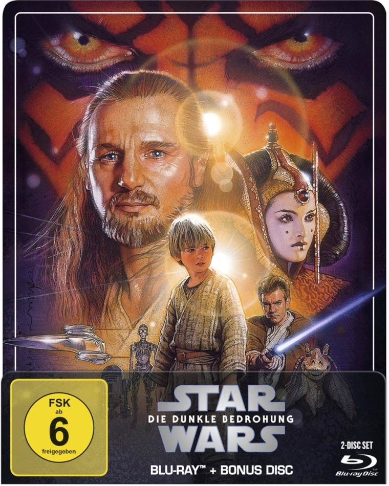 Star Wars - Episode 1 - Die dunkle Bedrohung (1999) (Limited Edition, Steelbook, 2 Blu-rays)