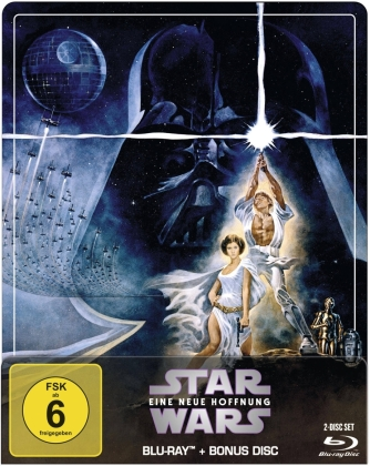 Star Wars - Episode 4 - Eine neue Hoffnung (1977) (Limited Edition, Steelbook, 2 Blu-rays)