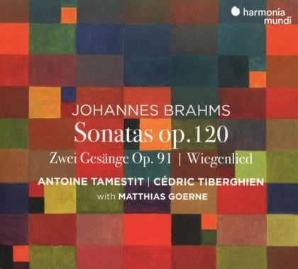 Antoine Tamestit, Cédric Tiberghien, Matthias Goerne & Johannes Brahms (1833-1897) - Sonatas op.120/Zwei Gesänge op.91/Wiegenlied