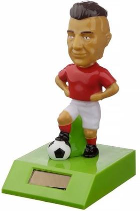 Fussballspieler Rot - Solar Wackelfigur