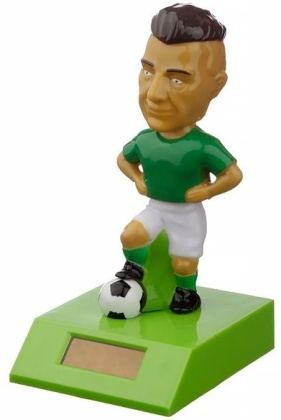 Fussballspieler Grün - Solar Wackelfigur