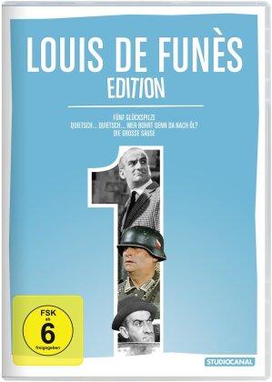 Louis de Funès Edition 1 - Fünf Glückspilze / Quietsch... Quietsch... Wer bohrt dennda nach Öl? / Die grosse Sause (3 DVD)