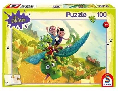 Die Olchis: Auf nach Schmuddelfing! - 100 Teile Puzzle