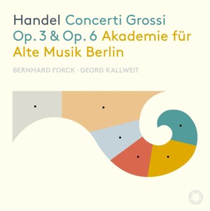 Reinhard Forck, Georg Kallweit, Georg Friedrich Händel (1685-1759) & Akademie für Alte Musik Berlin - Concerti Grossi Op. 3 & 6 (3 CDs)