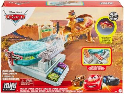 Disney Pixar Cars Mini Racers Radiator Springs Spin Out! Spielset