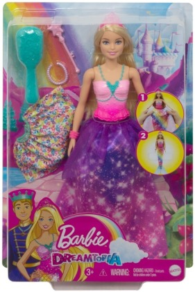 Barbie Dreamtopia 2-in-1 Prinzessin & Meerjungfrau Puppe