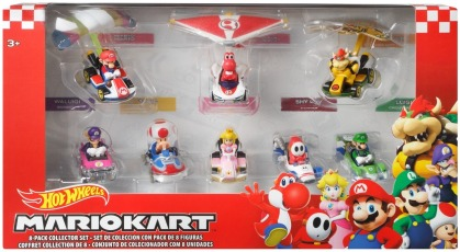 Hot Wheels Mario Kart Glider-Set inkl. 8 Die-Cast Fahrzeuge