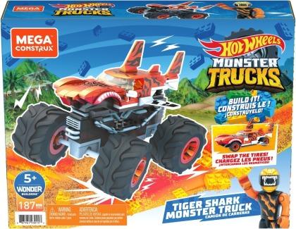 Mega Construx Hot Wheels Monster Trucks Tiger Shark
