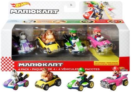 Hot Wheels Mario Kart Die-Cast 4er-Pack