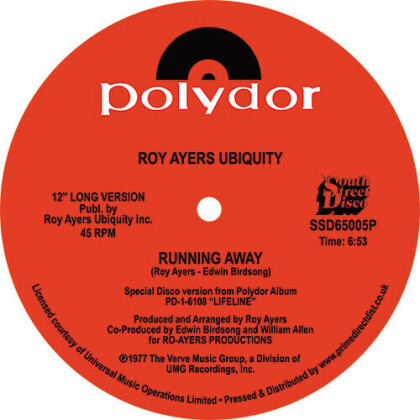 "Roy Ayers - Running Away / Love Will Bring Us Back Together (12"" Maxi)"
