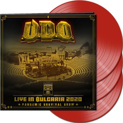 U.D.O. - Live in Bulgaria 2020 - Pandemic Survival Show (Red Vinyl, 3 LPs)