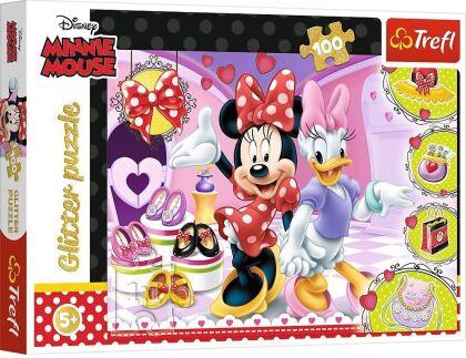 Disney Minnie Mouse: Minnies Schmuckstücke - 100 Teile Glitterpuzzle