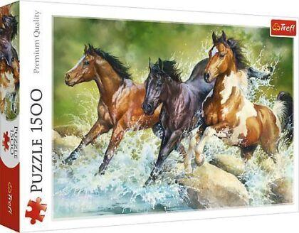 Drei wilde Pferde - 1500 Teile Puzzle