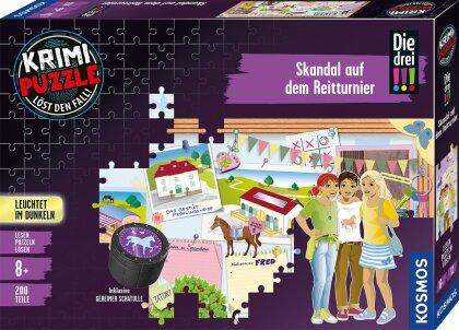 Die drei !!!: Skandal auf dem Reitturnier - 200 Teile Krimipuzzle