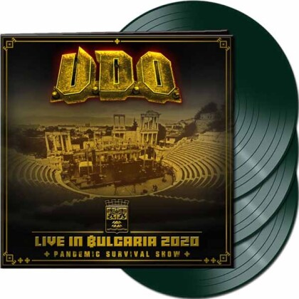 U.D.O. - Live In Bulgaria 2020 - Pandemic Survival Show (Plastichead Exclusive, Green Vinyl, 3 LPs)