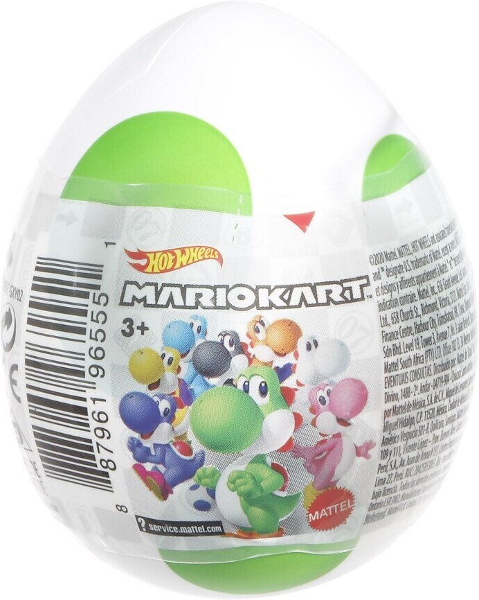 Hot Wheels Mario Kart Yoshi Egg Surprise Sortiment - 1 Piece per Purchase