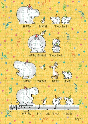 Sandra Boynton: Hippo Birdie Two Ewe - 300-Piece Birthday Puzzle