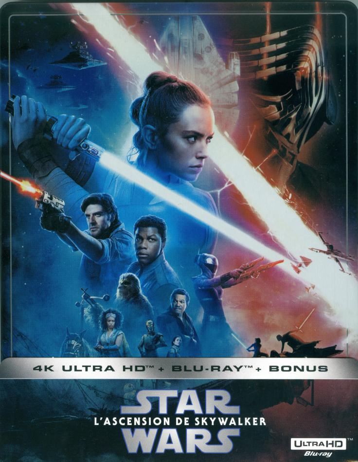 Star Wars - Episode 9 - L'ascension de Skywalker / The Rise of Skywalker (2019) (Edizione Limitata, Steelbook, 4K Ultra HD + 2 Blu-ray)