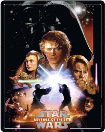 Star Wars - Episode 3 - La revanche des Sith / Revenge of the Sith (2005) (Édition Limitée, Steelbook, 4K Ultra HD + 2 Blu-ray)