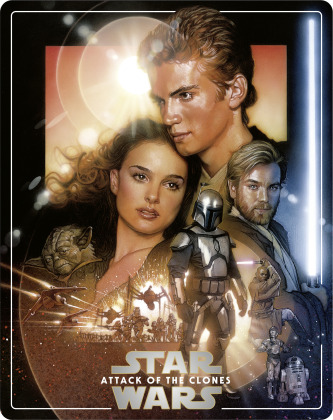 Star Wars - Episode 2 - L'attaque des clones / Attack of the Clones (2002) (Limited Edition, Steelbook, 4K Ultra HD + 2 Blu-rays)